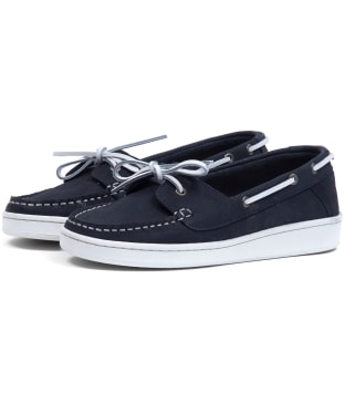 Women's Barbour Miranda Boat Shoes - Navy Nubuck