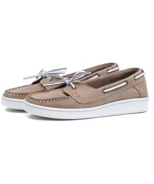 Women's Barbour Miranda Boat Shoes - Stone Nubuck