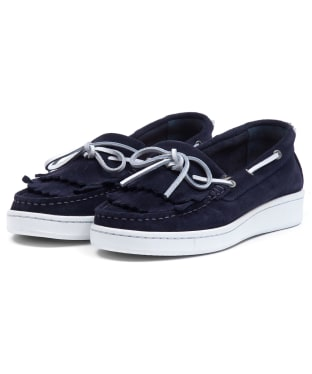 Women's Barbour Klara Loafers - Navy Suede