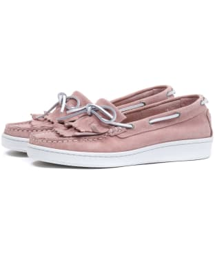 Women's Barbour Klara Loafers - Pink Suede