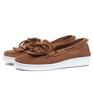 Women's Barbour Klara Loafers - Cognac Suede