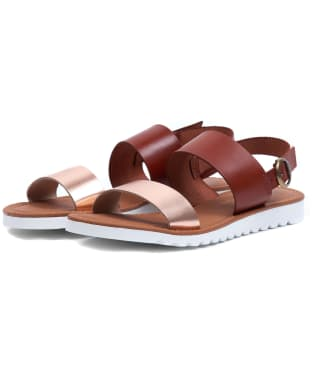 Women's Barbour Mia Sandals - Tan / Rose Gold