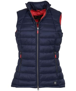 Women's Barbour Deerness Gilet - NAVY/CORAL