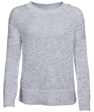 Women's Barbour Seaboard Knit Sweater - Skyline Blue / Off White
