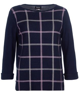 Women's Barbour Harper Knit Sweater - Navy