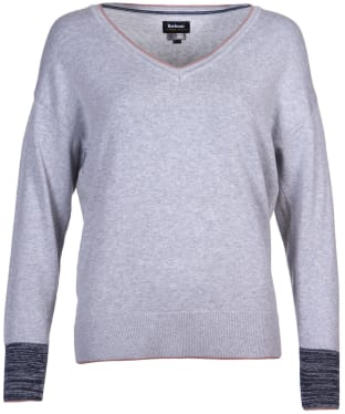Women's Barbour Aria Knit Sweater - Pale Grey Marl