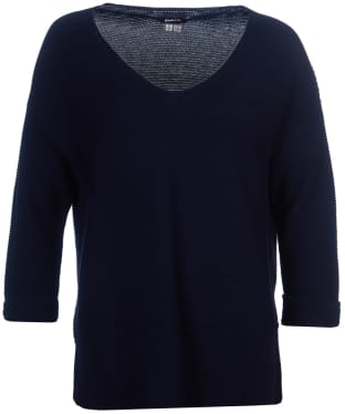 Women's Barbour Millie Knit Sweater - Navy