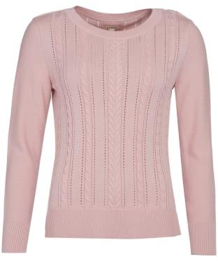 Women's Barbour Hampton Knit Sweater - Pale Coral