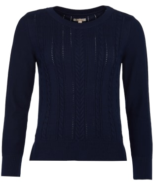 Women's Barbour Hampton Knit Sweater - Navy