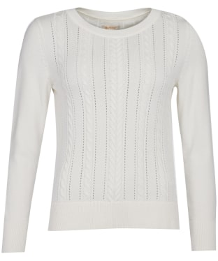 Women's Barbour Hampton Knit Sweater - Off White