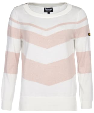 Women's Barbour International Rally Knit - Off White / Honeydew
