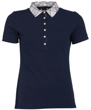 Women's Barbour Malvern Polo Shirt - New Navy