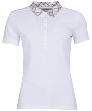 Women's Barbour Malvern Polo Shirt - New White