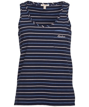 Women's Barbour Overland Vest Top - Navy Stripe