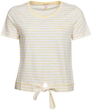 Women's Barbour Harbourside Top - White Stripe