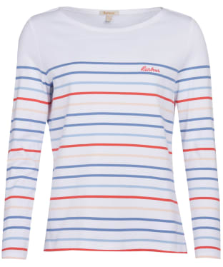 Women's Barbour Hawkins Stripe Top - White Multi