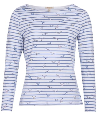 Women's Barbour Hawkins Print Top - White Coast Print