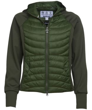 Women's Barbour Pier Sweater Jacket - Duffle Green