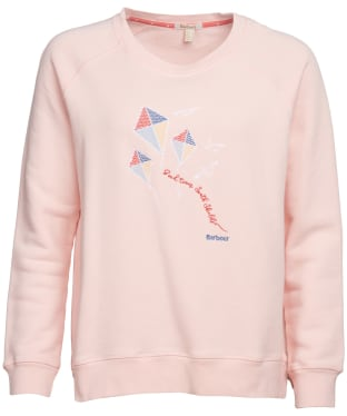 Women's Barbour Promenade Sweatshirt - Pale Coral