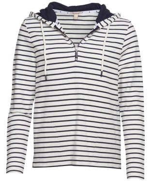Women's Barbour Seaboard Sweatshirt - White / Navy