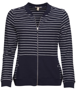 Women's Barbour Causeway Zip Sweatshirt - Navy / White