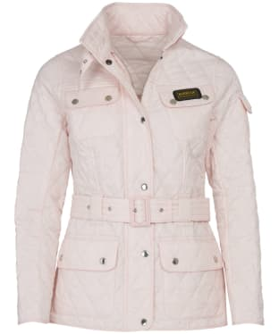 Women's Barbour International Lightweight Quilted Jacket - Cameo Pink