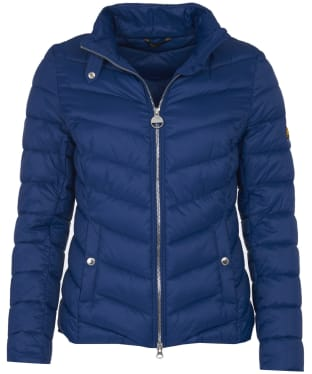 Women's Barbour International Aubern Quilted Jacket - Jewel Blue