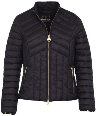 Women's Barbour International Keeper Quilted Jacket - Black