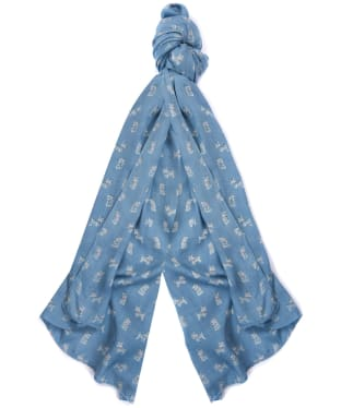 Women's Barbour Dog Print Wrap - Blue / Pink