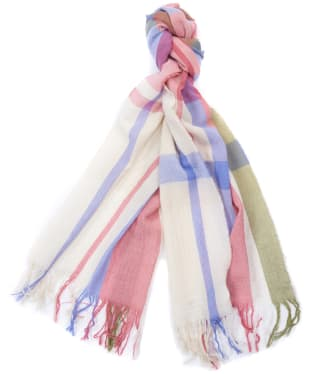 Women's Barbour Country Shield Scarf - Tayberry / Sand Dune