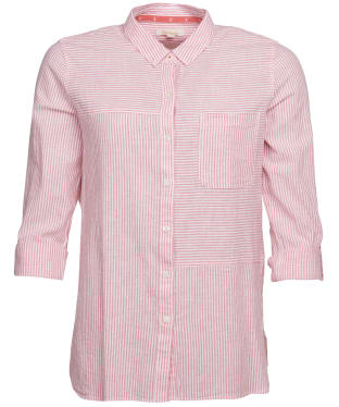 Women's Barbour Beachfront Shirt - Coral / White