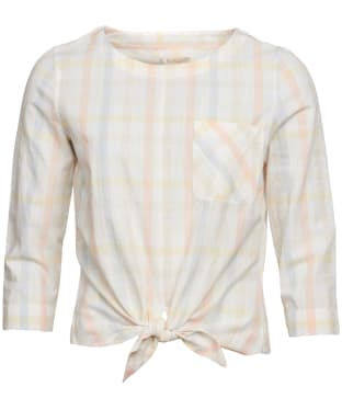 Women's Barbour Harbourside Top - Primrose Yellow Check