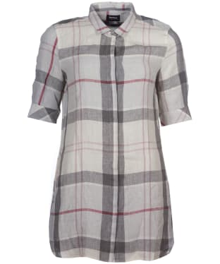 Women's Barbour Harper Shirt Dress - Platinum Tartan