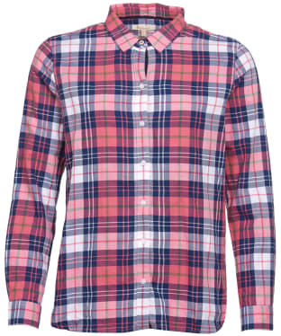 Women's Barbour Haley Shirt - Tayberry / Lupin Check