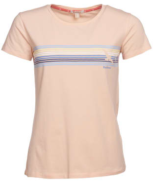 Women's Barbour Harbourside Tee - Pale Coral