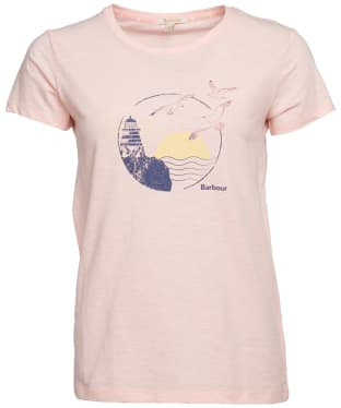 Women's Barbour Overland Tee - Pale Coral