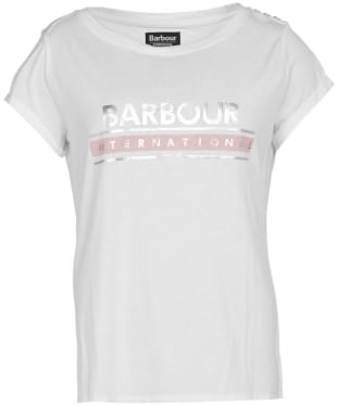 Women's Barbour International Apex Tee - White