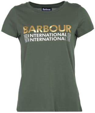 Women's Barbour International Trackrace Tee - Tussock