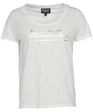 Women's Barbour International Fullcourt Tee - White