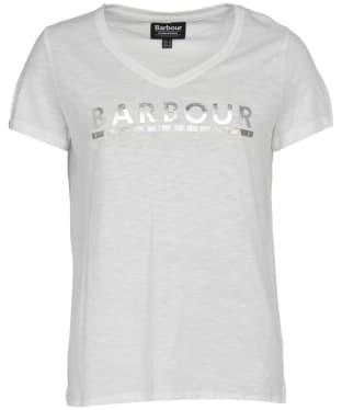 Women's Barbour International Huddle Tee - White