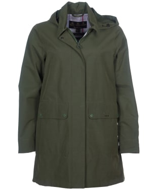 Women's Barbour Outflow Waterproof Jacket - Moss Green