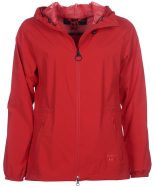 Women's Barbour Leeward Waterproof Jacket - Reef Red