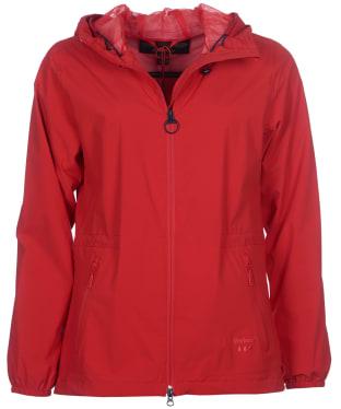 Women's Barbour Leeward Waterproof Jacket - Reef Red