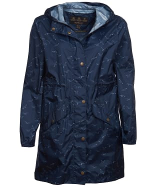 Women's Barbour Simonside Waterproof Packable Jacket - Navy Seagull