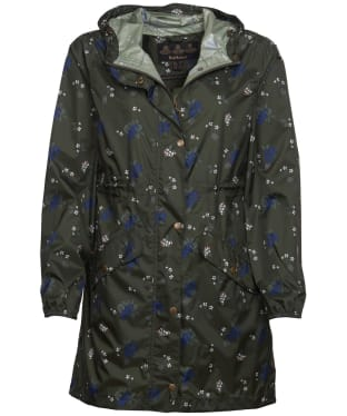 Women's Barbour Simonside Waterproof Packable Jacket - Olive Ladybird