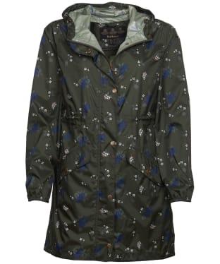 Women's Barbour Simonside Waterproof Packable Jacket - Olive Ladybird
