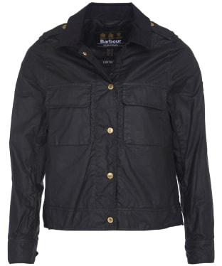 Women's Barbour International Ballpark Wax Jacket - Black