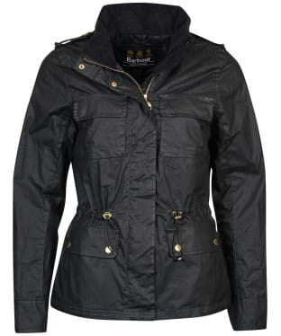 Women's Barbour International Baton Wax Jacket - Black