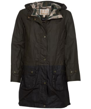 Women's Barbour Maddison Lightweight Waxed Jacket - Archive Olive