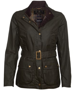 Women's Barbour Heatherview Lightweight Waxed Jacket - Archive Olive